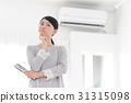 Air conditioner · troubled woman 31315098