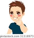 Boy Pointing Finger 31318973