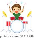 Boy Playing Drums 31318986