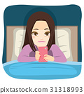 Using Smartphone In Bed 31318993