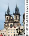 Tyn Church Tower ,Prague, Czech Republic 31320318