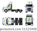 vector, tractor, template 31323906