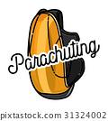 Color vintage parachuting emblem 31324002