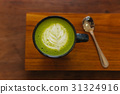 hot matcha green tea latte 31324916
