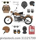 motorcycle, vector, helmet 31325799
