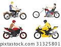 vector, helmet, motorcyclist 31325801