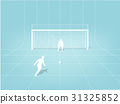 graphic design of penalty kick soccer training 31325852