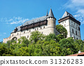Large gothic castle Karlstejn, travel destination 31326283