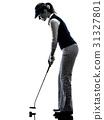 高尔夫球手 女人 女性 31327801