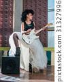 female, guitar, woman 31327996