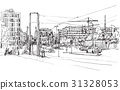 sketch city scape of Berlin street  31328053