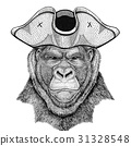 Gorilla, monkey, ape Frightful animal wearing 31328548