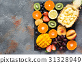 Raw fruits and berries platter 31328949