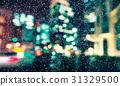 Defocused city background scene at night 31329500