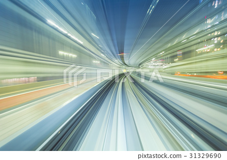 High speed technology concept via a Tokyo monorail 31329690