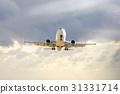 Large airliner flying in sky 31331714