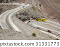 Serpentine road at Paso Los Libertadores 31331773