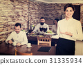 Female, waiter, restaurant 31335934