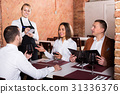 waitress, taking, order 31336376