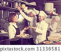 Female, waitress, kitchen 31336581