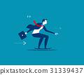 Enjoy speed. Businessman on skateboard.  31339437