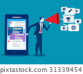 Businessman using smartphone technolog. 31339454