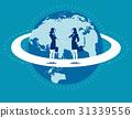 Global business. Businesswomen greet woman. 31339556