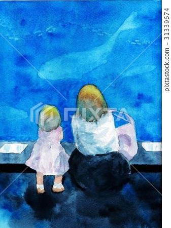 Aquarium / parent / child 31339674