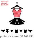 Corrective Lingerie Vector Icon  31346791