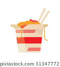 Chinese Food Take Out Box Cartoon 31347772
