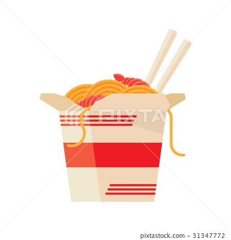 Chinese Food Take Out Box Cartoon 31347772
