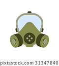 gas mask isolated vector 31347840