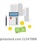 Concept of tax payment and invoice. 31347888