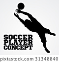 Goal Keeper Soccer Player Silhouette 31348840