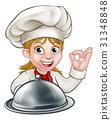 Chef Woman Cartoon Character Mascot 31348848
