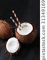 coconut, drink, tropical 31349169