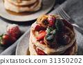 煎餅 堆積 草莓 31350202