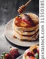 delicious pancake pile 31350385