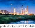 Landscape of oil refinery plant at twilight scene. 31350444