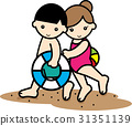 sea bathing, younger, person 31351139