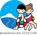 sea bathing, younger, girl 31351140