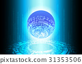 Blue Future Binary Globe Technology Background 31353506