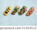 breakfast, fresh, sandwich 31354512