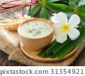 Dumplings in coconut cream,Thai dessert 31354921