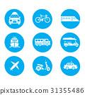 Transportation icons vector design. 31355486
