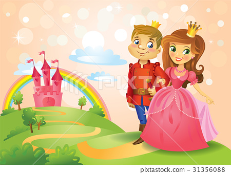Fairy tale castle and beautiful Princess and 31356088
