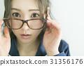 眼镜 女生 女孩 31356176