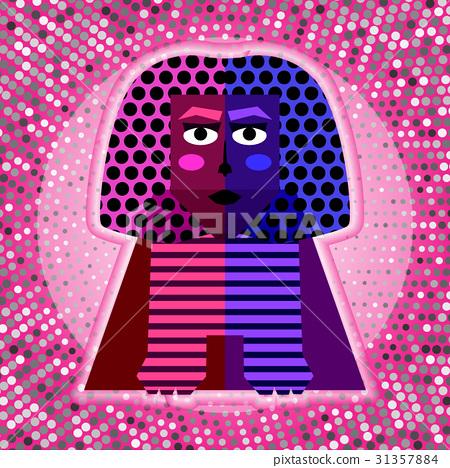 Vector Sphinx in Pop Art Style 31357884