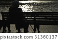 Concept old age and loneliness. Silhouette of an 31360137