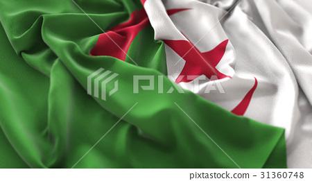Algeria Flag Ruffled Beautifully Waving 31360748